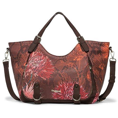 Desigual Chocolate Shoulder Rojoterdam Amazon Zapatos es Bag Rodas qxv7q6S