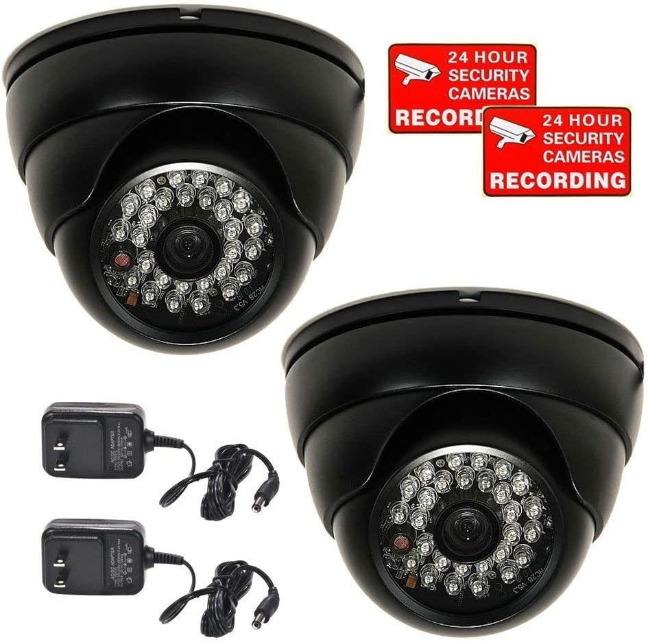 2x Mini SONY CCD Bullet CCTV Security Camera Outdoor Wide Angle w// Power
