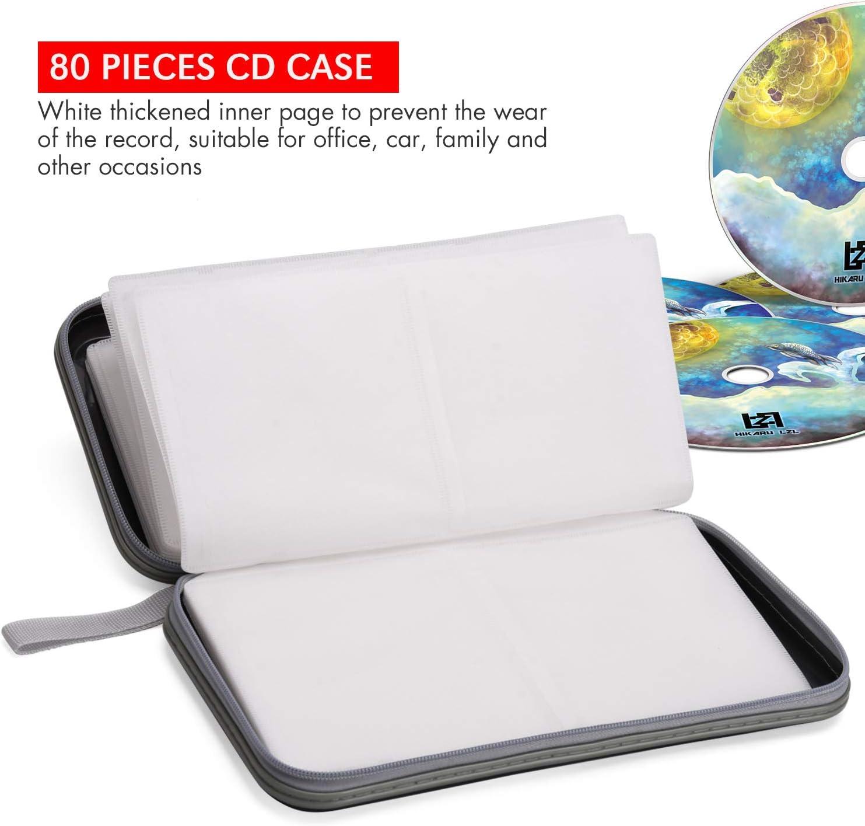 Caja Negra para CD, Capacidad de 80 DVD, Estuche para DVD, Organizador de Almacenamiento para VCD, plástico Flexible, Almacenamiento de DVD: Amazon.es: Electrónica