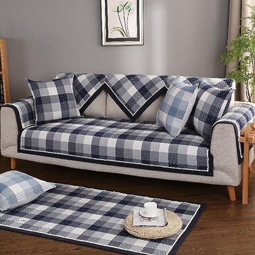 YANGYAYA Funda de sofá de algodón,Acolchada y Antideslizante Sofa ...