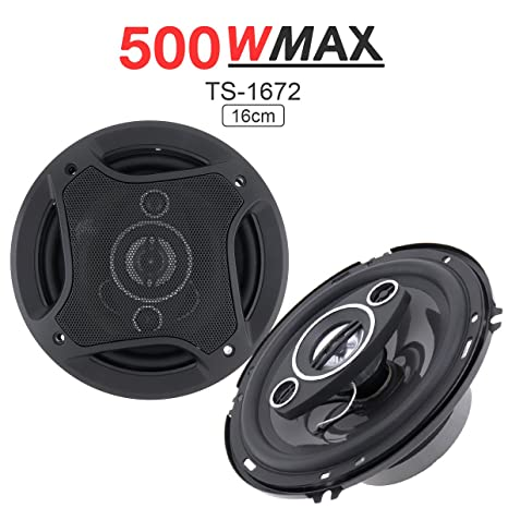 Amazon com: 2Pcs 6 Inch 500W Car Coaxial Auto Audio Music