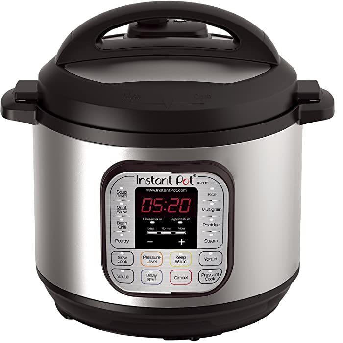 Instant Pot DUO80 8 Qt7-in-1 Multi- Use Programmable Pressure Cooker, Slow Cooker, Rice Cooker, Steamer, Sauté, Yogurt Maker and Warmer