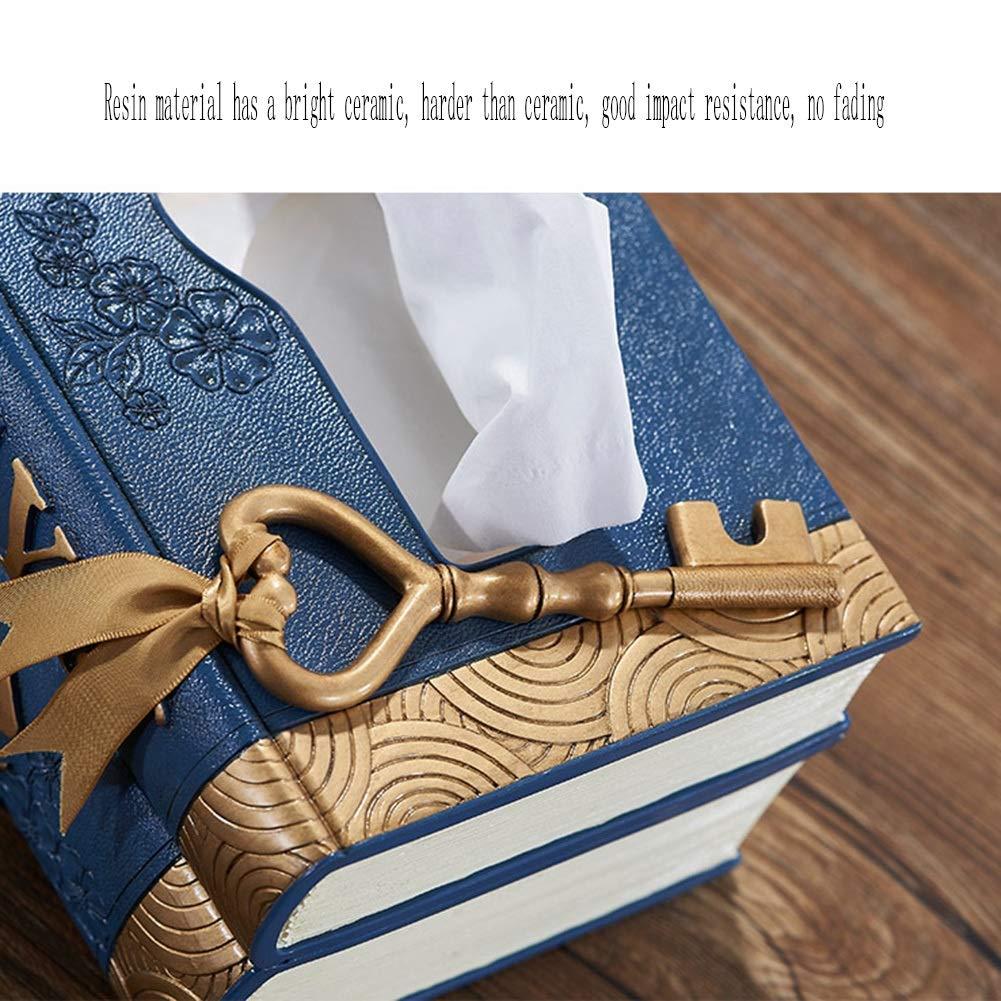 TD Klassische Kreative Europäische Stil Einfache Schöne Retro Buch Stil Stil Stil Wohnzimmer Tissue Box 20  14,5  9,9 cm (Farbe   rot) B07K9FVHBS Toilettenpapieraufbewahrung 554776