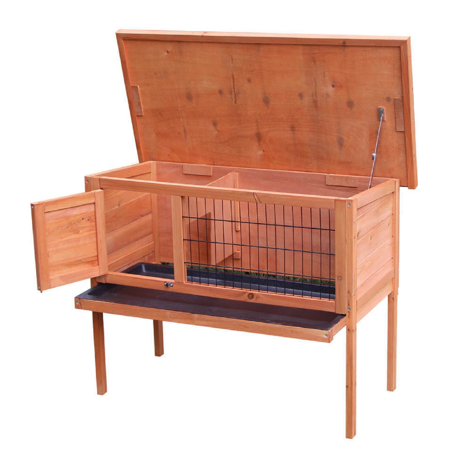 HOT! 36'' Waterproof Wooden Chicken Coop Hen House Pet Animal Poultry Cage Rabbit Hutch