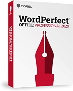 Corel WordPerfect Office 2020 Professional Upgrade Word Processor, Spreadsheets, Presentations, Paradox Database Management Documents, Letters, Contracts, Pleading papers, eBooks [PC Disc]