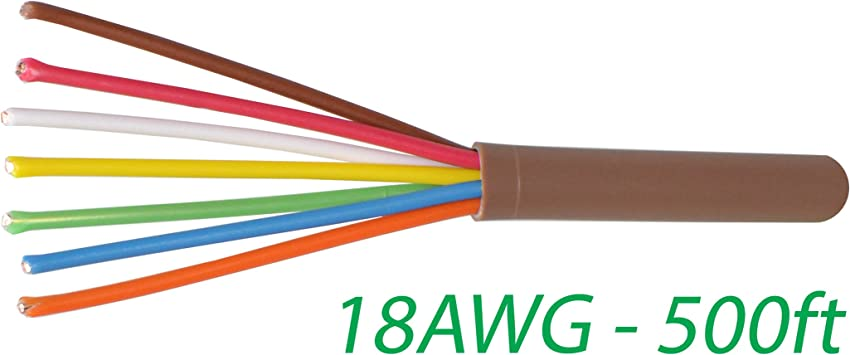 500/'Ft 18//4 4-WIRE Copper CMR Heating Air Conditioning HVAC AC Thermostat Cable