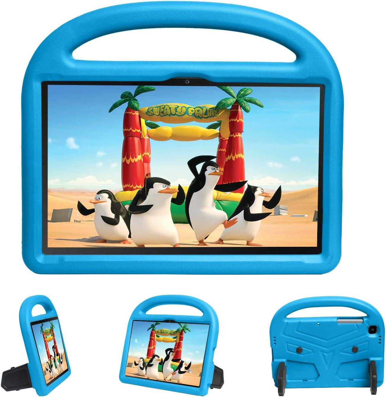 XunyLyee - Funda compatible con Samsung Galaxy Tab A7 2020, mango a prueba de golpes, peso ligero, soporte para niños, para Samsung Galaxy Tab A7 2020 SM-T500 T505 T507 (10,4 pulgadas), color azul