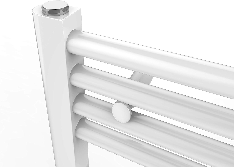 WELMAX Handtuchtrockner 50 x 180 cm Antrazit Heizk/örper 1027 Watt Leistung Bad-Heizk/örper Bad Mittelanschluss Heizung Handtuchheizk/örper