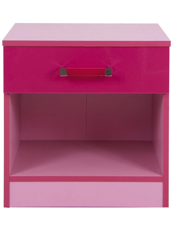Malibu Bedroom Furniture Malibu Childrens Bedside Cabinet Pink Girls Bedroom Amazonco
