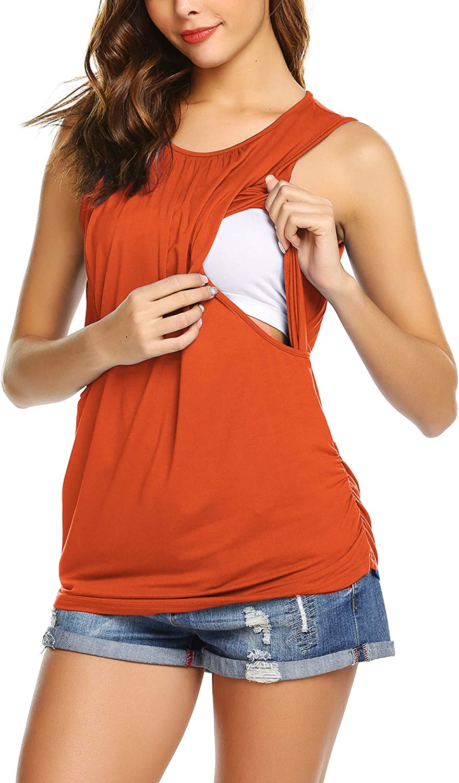 Unibelle Damen Stillzeit Umstandsshirt Umstandstop Langarm Stillshirt Mama Schwangerschaft Kleidung Umstandsmode T-Shirt S-XXL