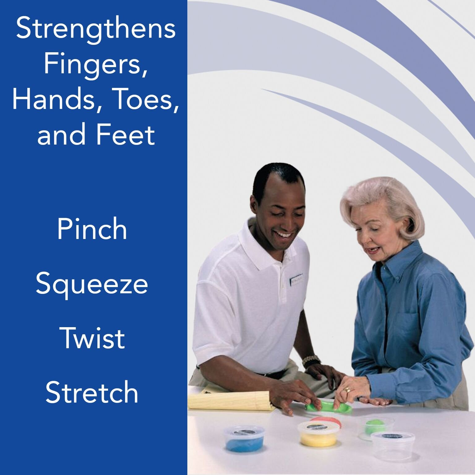 Sammons Preston Therapy Putty for Physical Therapeutic Hand Exercises, Flexible Putty for Finger and Hand Recovery and Rehabilitation