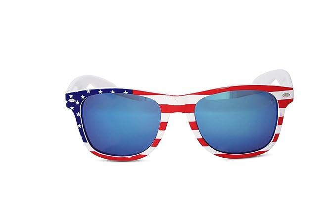 30c441575fd US American Flag Stars   Stripes Framed Wayfarer Sunglasses (Blue)