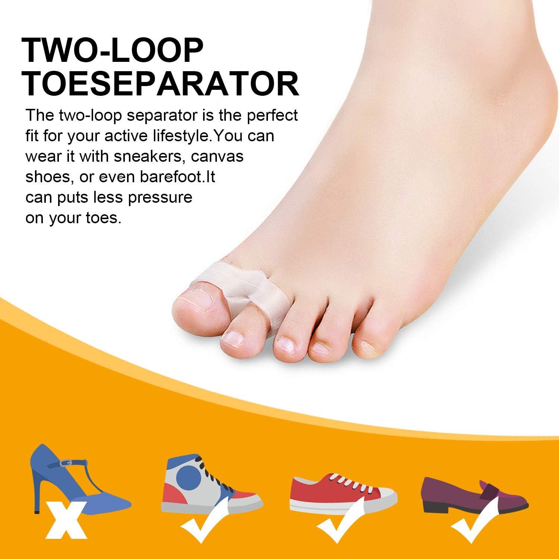 Big Toe Separator Pain Relief Hallux Valgus Correction Hammer Orthopedic Bunion Splint COVVY Bunion Corrector//w Bunion Toe Separators Day//Night Support