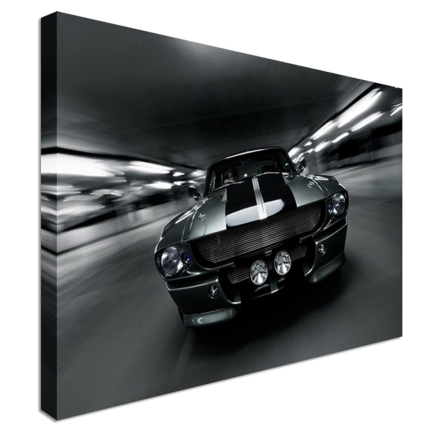 Ford Mustang GT500-30x20 Inch Canvas Framed Picture Wall Art Print