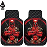 A Pair Of New Design Marvel Deadpool Auto Truck SUV Car Front Floor Mats Set With