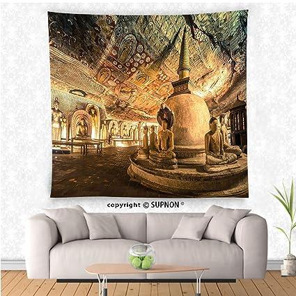 Amazon.com: VROSELV custom tapestry Home Decor Collection Buddha ...