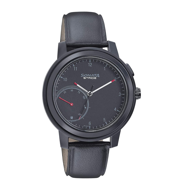 Sonata Stride Pro Hybrid Smart Watch Black Dial for Men