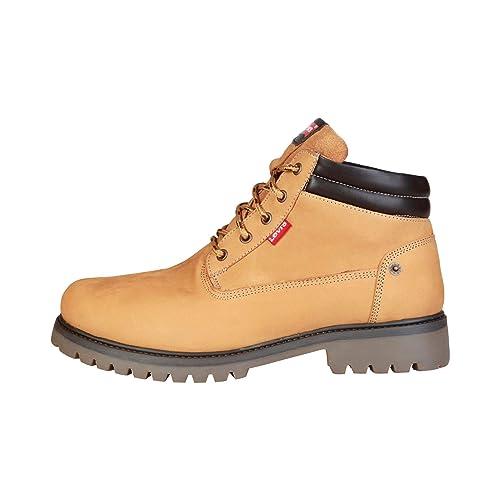 Levis Hombre 222711_760 Amarillo Cuero Botines de Trabajo 11 UK: Amazon.es: Zapatos y complementos
