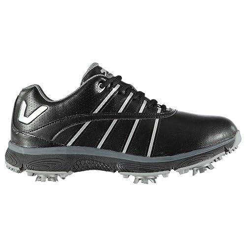 ae1531500c1 Slazenger V200 Ladies Golf Shoes Black Spikes Trainers Footwear (UK4)  (EU36.7