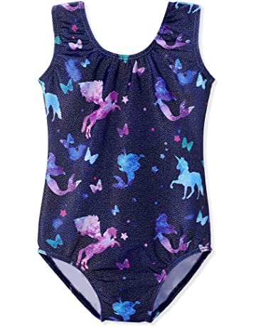 945aac89c Gymnastics Leotards for Girls Unicorn Pink Purple Sparkly Dancewear  Activewear Quick Dry