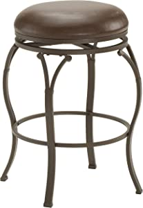 Hillsdale Furniture Lakeview Backless Counter Stool, Brown