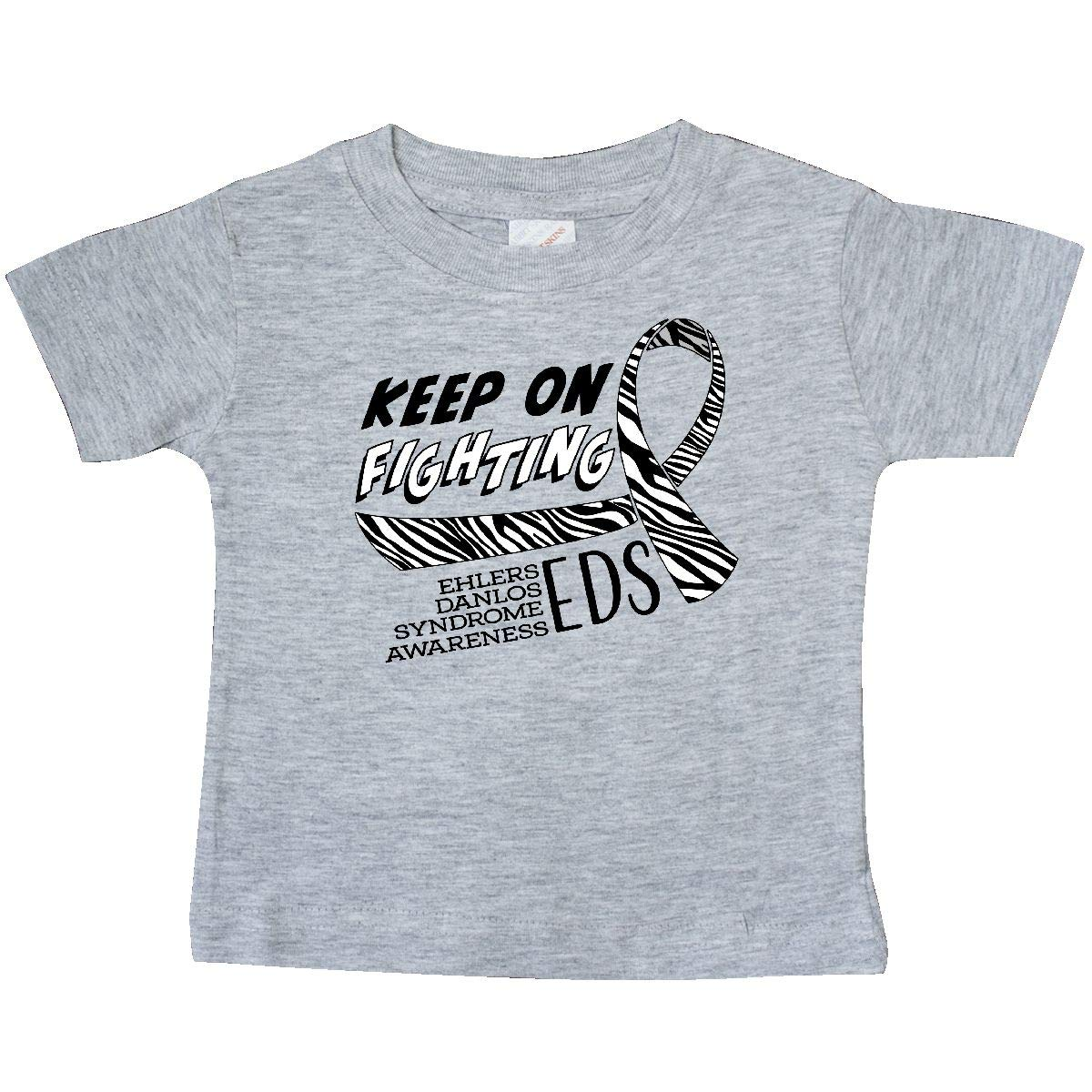 Ehlers Danlos Syndrome Awareness Baby T-Shirt inktastic Keep on Fighting