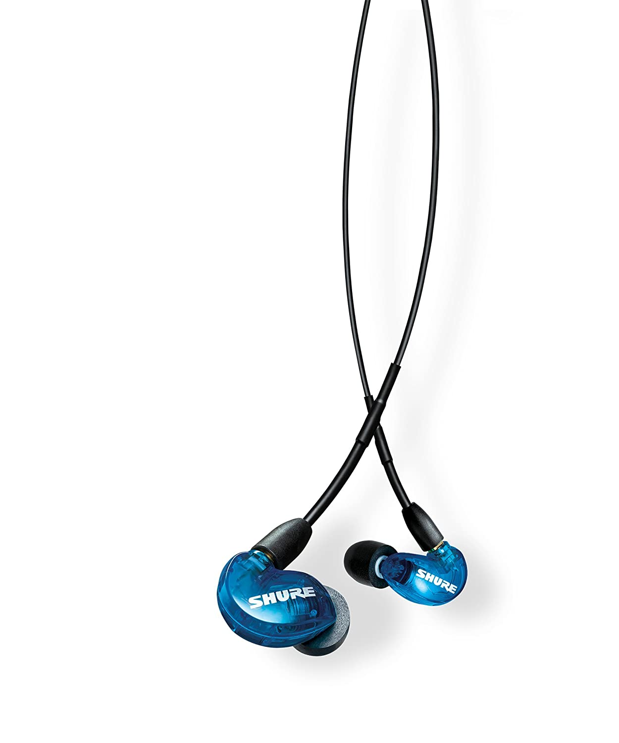 Shure SE215SPE Special Edition Sound Isolating Earphones, Blue/Gray Shure Incorporated