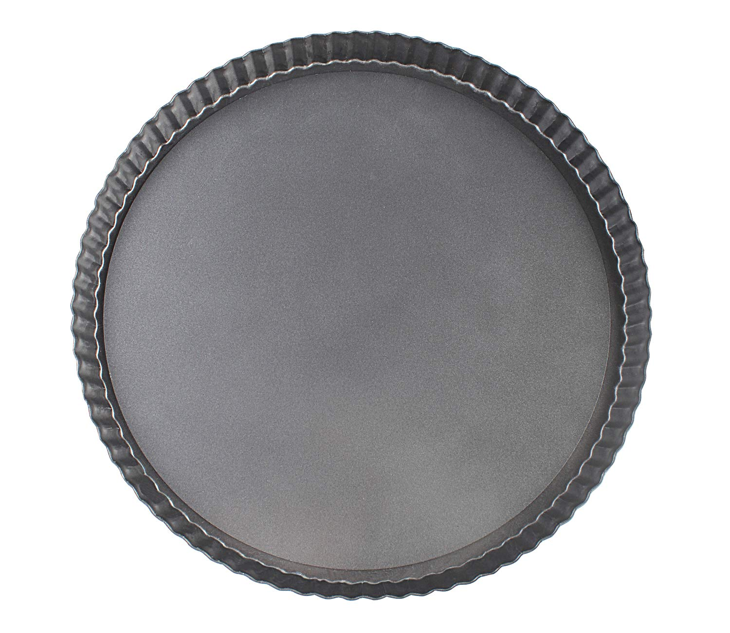 Vanly 12.6-Inch Round Loose Bottom Quiche Tart Pan, Non-stick Tart Pie Pizza Pan with Removable Base