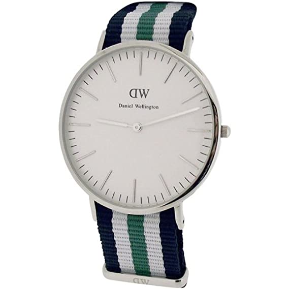 Daniel Wellington - reloj de pulsera para hombre de estilo clásico de Nottingham - Plata: Amazon.es: Relojes