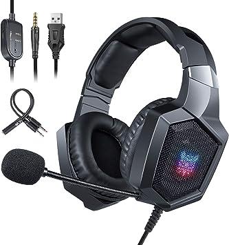 ONIKUMA Auriculares Gaming PS4 Xbox One, Auriculares con Micrófono ...
