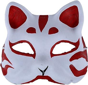 SODIAL Mascara de zorro Accesorios y herramientas para juego de disfraz, Mascara hecha a mano de zorro: Amazon.es: Juguetes y juegos