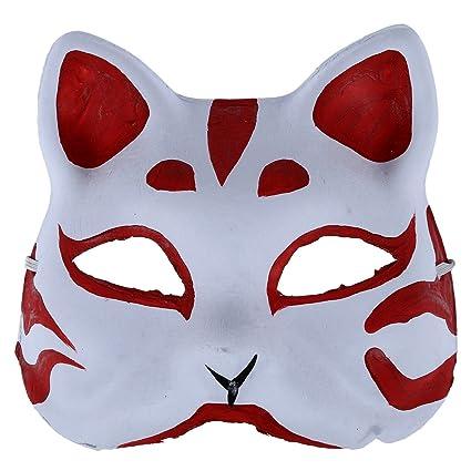 TOOGOO Mascara de zorro Accesorios y herramientas para juego de disfraz, Mascara hecha a mano