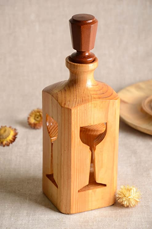 Botella Sonora hecha a mano decoración en madera ecológica Idea ...