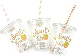 Sweet as a Peach Party Disposable Cups (12 Set)