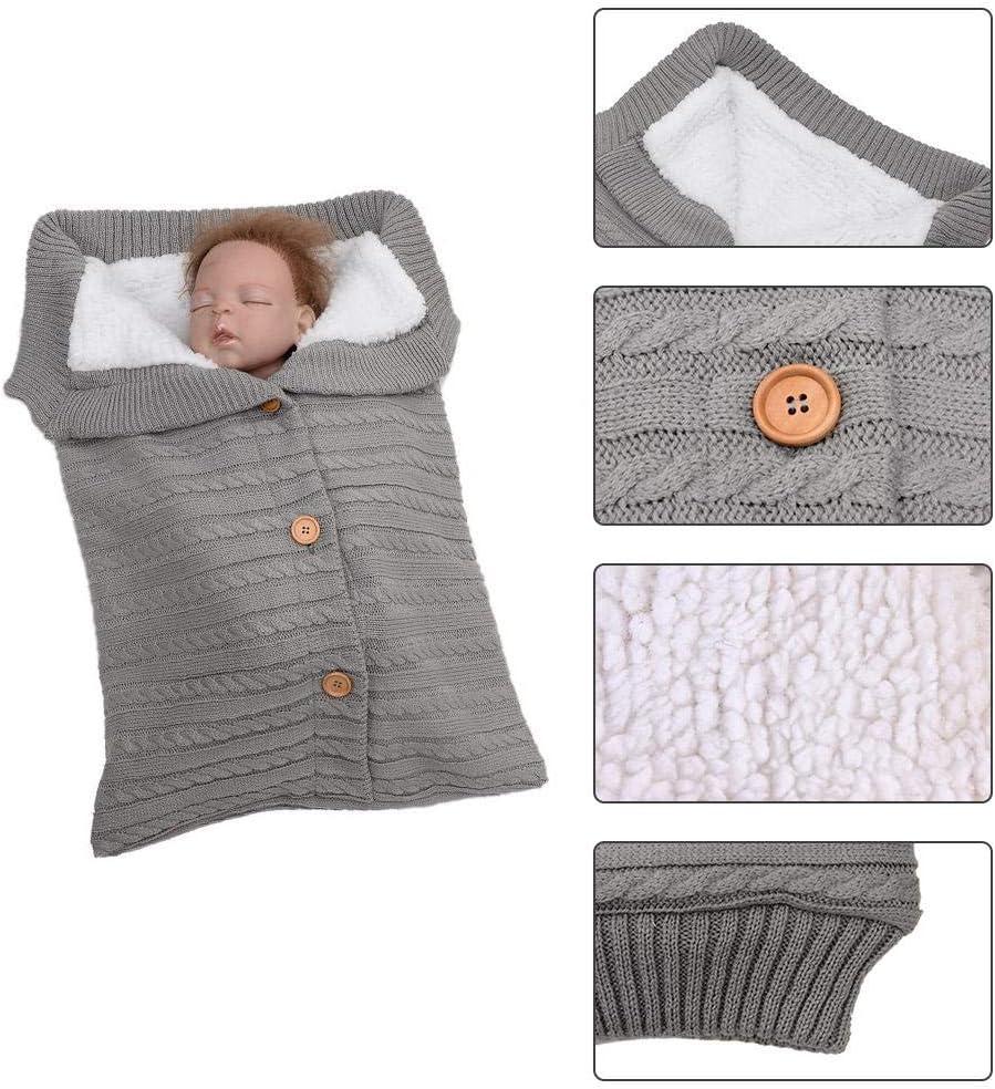 Saco de dormir de bebé recién nacido otoño invierno cálido cochecito de bebé de algodón de punto sobres manta Unisex saco de dormir de lana
