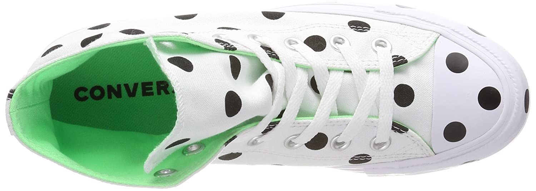cbd1b67028ee5 Converse Women's's CTAS Hi White/Black/Illusion Green Top Trainers