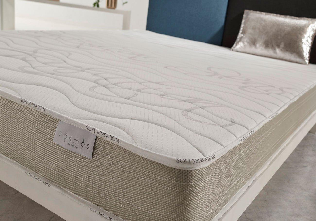 COSMOS® - COLCHÓN Sensation 135 x 190 cm - 100% Espuma Active Latex - ATÉRMICO - 17 CM - Modelo ergonómico: Amazon.es: Hogar