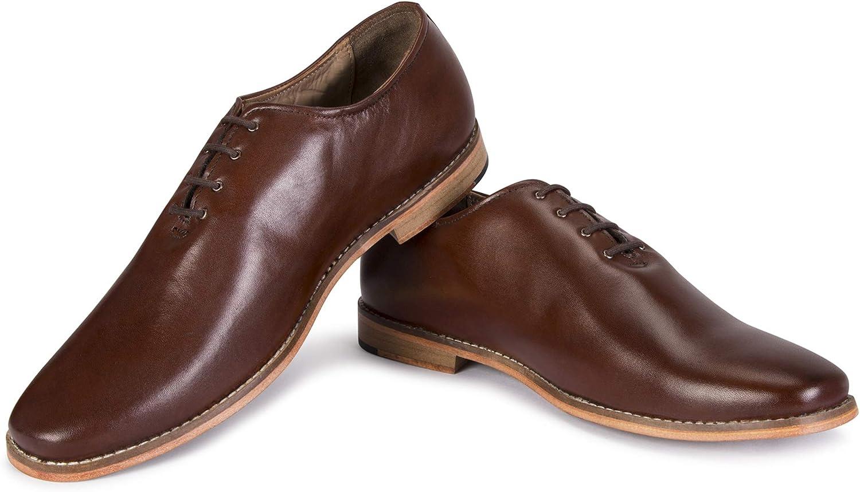 Buy LOUIS STITCH Men's Formal Brown Shoes   Premium Handmade Pure Leather  British Toe Shoe Pecan Brown (Prague_P6) (10) at Amazon.in