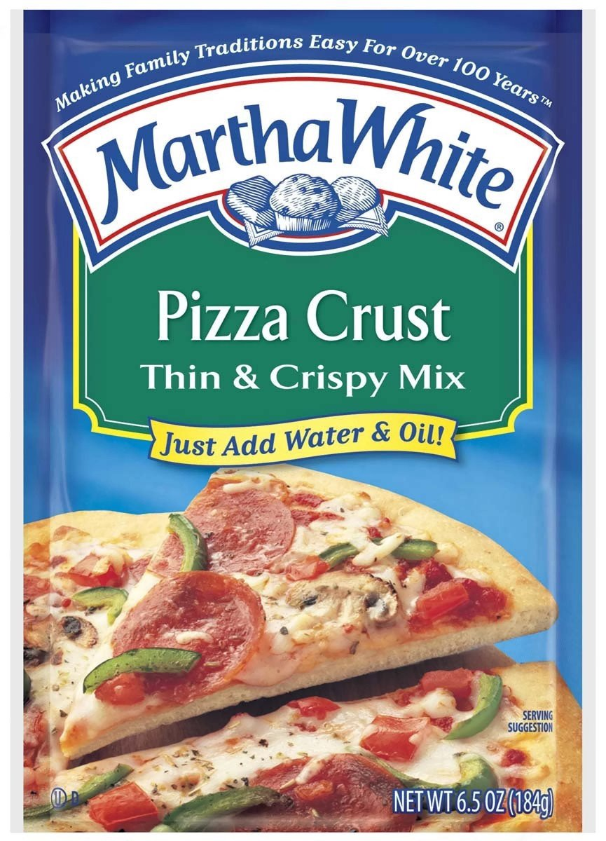 Amazon.com : Martha White, Pizza Crust, Thin & Crispy Mix, 6.5oz ...