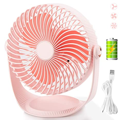 Admirable Mini Table Usb Fan Mrotech Quiet Portable Desk Stroller Table Fan With Usb Rechargeable Battery 360 Degree Rotation Cooling Electric Fan For Office Download Free Architecture Designs Scobabritishbridgeorg