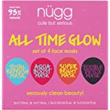nügg Beauty All Time Glow Facial Skin Treatment 4 pack Kit for Clean, Radiant and Dewy Skin; Pack of 4 facial skin…