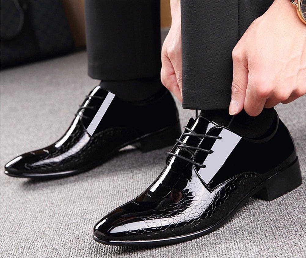 XIE Männer Schuhe kreative Stil glänzend Lace-up Einzelne Einzelne Lace-up Schuhe Mode Formelle Tragen große Größe Schuhe 38-44 872654