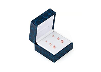 3c93a20083a0 Amazon.com  14K Solid Rose Gold Ball Stud Earrings (3-Pair-Pack) 3MM ...