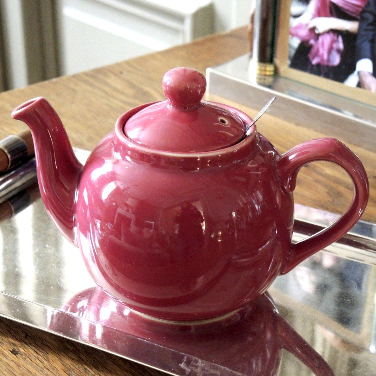 Aqua London Pottery Farmhouse Small Teapot with Infuser 2 Cup Ceramic 500 ml