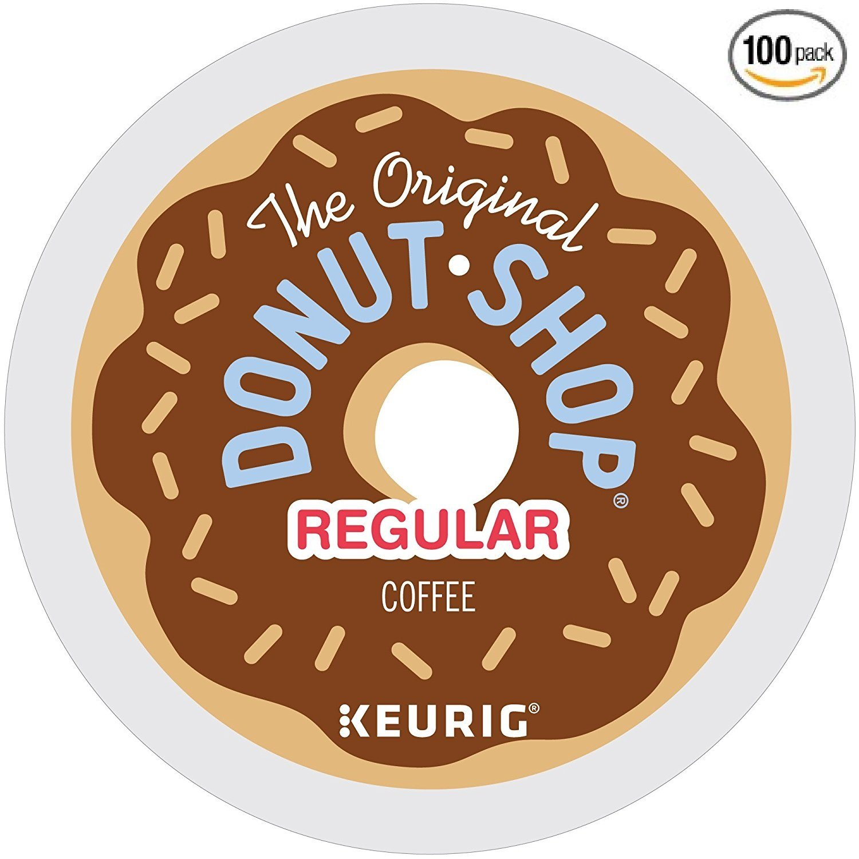 The Original Donut Shop Regular Keurig Single-Serve K-Cup Pods, Medium Roast Coffee, (100 COUNT) by The Original Donut Shop