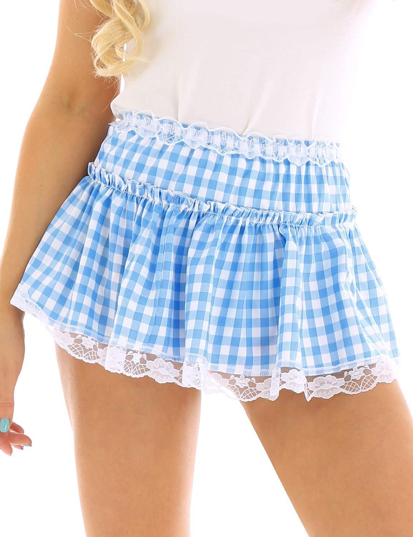 dPois Falda a Cuadros Mujer Ropa Erótica Sexy Minifalda Plisada ...