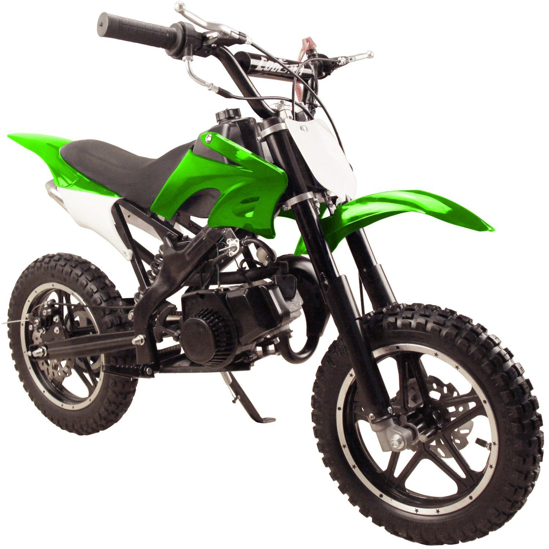 49cc 50cc High Performance Green 2-Stroke Gas Motorized Mini Dirt Pit Bike by Flying Horse