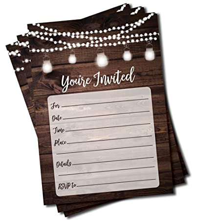 amazon com rustic invitations and envelopes large size 5x7