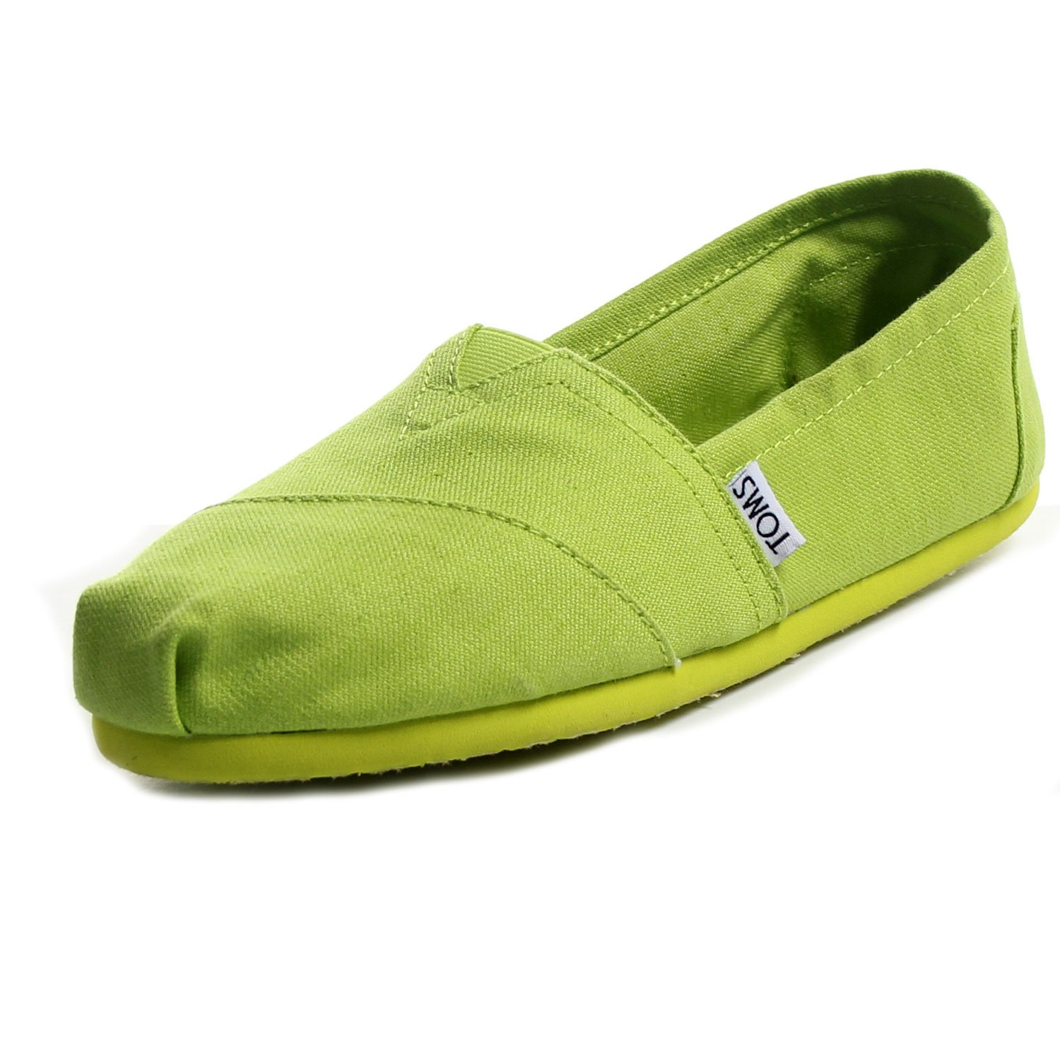 TOMS Womens Classics Shoe Lime Earthwise Size 8