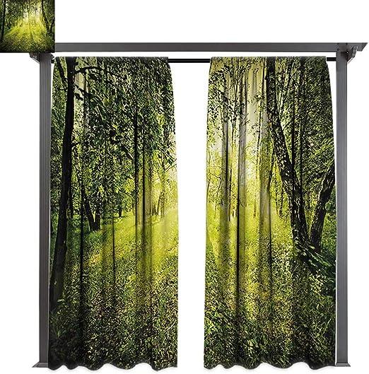 bybyhome - Cortinas de porche con espejos mágicos de colores sobre ...